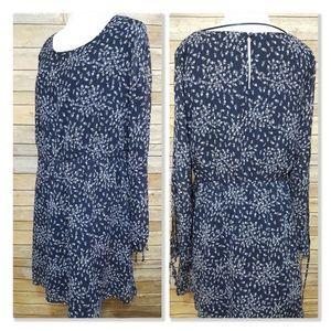 Lauren Conrad Floral Split Sheer Open Sleeve Dress